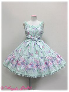 Angelic Pretty - Sugar Pansy Tiered JSK in Mint