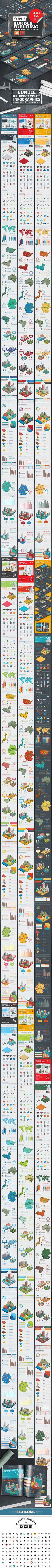 Bundle Building Infographics Design Template Vector EPS, AI Illustrator
