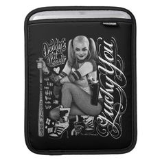 Customizable Rickshaw Sleeve made by Rickshaw Bagworks. Suicide Squad, Daddys Lil Monster, Harley Quinn Comic, Ipad Sleeve, Front Bottoms, Ipad Air 2, Pet Toys, Ipad Mini, Typography