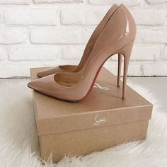 Are these #Shoes hot or not? Follow me for more #high #heels added daily Christian Louboutin Heels, Louboutin Shoes, Prom Heels, Pumps Heels, Tan Heels, Nude Pumps, High Heel Pumps, Stiletto Heels, Zapatos Shoes