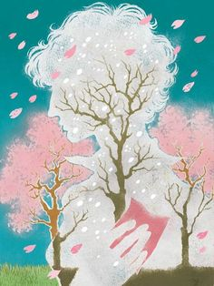 Spring Arrives (every year without fail) by Yuko Shimizu, via Behance
