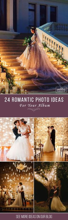 24 Romantic Wedding Photo Ideas ❤ Now you can easily find some creative and gentle ideas for your wedding album on our website. Look for inspiration and save the best photos from our post. See more: http://www.weddingforward.com/romantic-wedding #weddings #photography