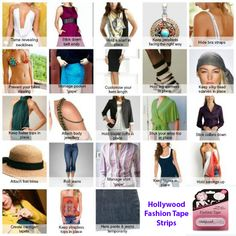Fashion Tape – The Multi-Functional Fashion Life Saver… Fashion tape is super versatile, and believe it or not, having double-stick fabric tape in your handbag can help prevent full-on wardrobe malfunctions. http://www.secretfashionfixes.ie/fashion-tape-!8-cat.html