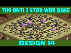 Clash of Clans | Town Hall 9 Anti 3 Star War Base | Layout 14 | CoC