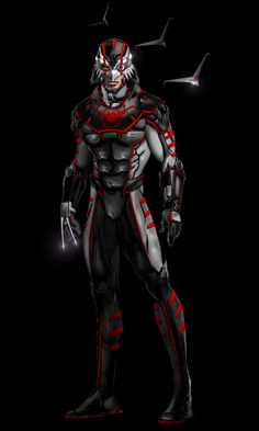 """Newest addition to my """"Fan of"""" series of Marvel (redesign) Characters. My rendition of Blackagar Boltagon...AKA Black Bolt of the Inhumans...of course as I imagine he would look in the MCU and Cosp..."""