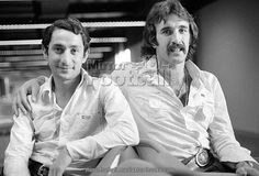 Argentine footballers Osvaldo Ardiles (left) and Ricardo Villa at Gatwick Aiport after signing for Tottenham Hotspur