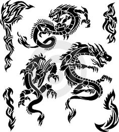 Types of Tribal Dragon Tattoo Designs