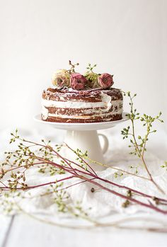 Naked champagne orange cake