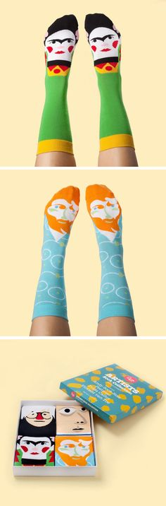 Chattyfeet Socks keep your feet cozy and creative!