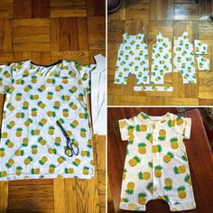 I upcycled an old tshirt into a cute baby romper. Pattern by brindillerandtwig (Rolled Hem Romper : sewing Sewing Baby Clothes, Handmade Baby Clothes, Diy Clothes, Diy Romper, Baby Boy Romper, Baby Girl Patterns, Baby Clothes Patterns, Baby Romper Pattern Free, Baby Sewing Projects