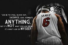 LeBron James I Ask of Myself Motivational Basketball NBA Quotes Poster