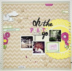 Oh The Places We Go layout by Jaime Warren #scrapbooking #summer