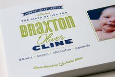 Braxton Birth Announcement | Flickr - Photo Sharing!