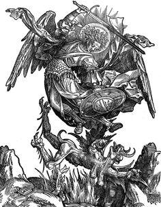 Jacob Cornelisz, Archangel Michael slaying Satan, 1510