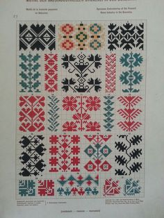 FolkCostumeEmbroidery: May 2016 Beaded Cross Stitch, Cross Stitch Borders, Cross Stitch Designs, Cross Stitching, Cross Stitch Patterns, Folk Embroidery, Cross Stitch Embroidery, Embroidery Patterns, Cross Stitch Freebies