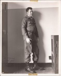 To Mama With Love, Vintage Photograph, Photo of Charles, Army, Military Serviceman, Uniform, Army Boots, Portrait, Ft. Rich, Alaska, 1970 by BettywasaBombshell on Etsy