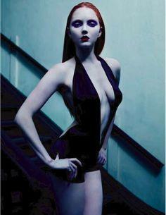 Mario Sorrenti - Photographer  Andrew Richardson - Fashion Editor/Stylist  Recine - Hair Stylist  Aaron de Mey - Makeup Artist  Lily Cole - Model