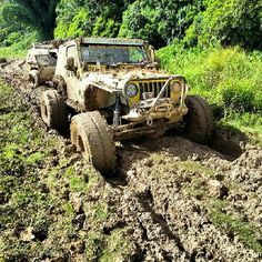 BadAss Jeep off road in the mud. Offroad Wild wheel vehicle truck trees travel transport trail track terrain suv steep sport splash speed smoke slope site Sigma…More Jeep Cj7, Jeep Wrangler, Jeep Jeep, Jeep Truck, 4x4 Trucks, Off Road Adventure, Adventure 4x4, Badass Jeep, Offroader