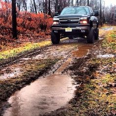 lifted Chevrolet truck Silverado with Bow-Tie, BEAUTIFUL. :)