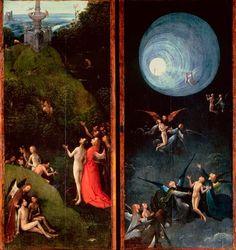 «Visiones del Más Allá» (tablas de un políptico), del Bosco. «La ascensión al Empíreo» (1502-3). Galería de la Academia, Venecia.