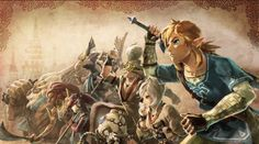 oceanking: the new artwork for the Hyrule Warriors: Age of... The Legend Of Zelda, New Zelda, Legend Of Zelda Memes, Legend Of Zelda Breath, Link Zelda, Sega Master System, Samurai Warriors 5, Link Art, Breath Of The Wild