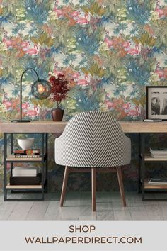 Beautiful and enchanting, this painterly effect design showcases a colourful tropic landscape featuring perfectly pink flamingos. Shown here in the Multi colourway. Order your free sample today from wallpaperdirect.com