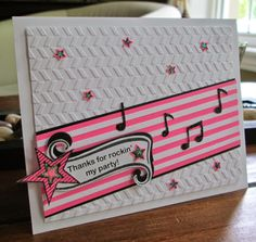 Tania's Paper Trails: Dance-themed Thank You Card