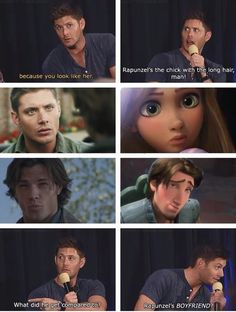 1000% sure the tangled animators just took dean winchester as inspiration