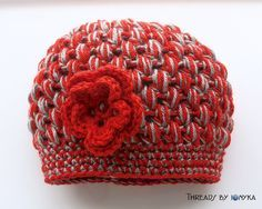 Ohio State #Buckeyes Red and Grey #Crochet Hat by threadsbyionyka, $30.00