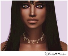 The Sims 4 Starlight Necklace The Sims 4 Pc, Sims 4 Teen, Sims Four, Sims 4 Cas, My Sims, Sims Cc, Sims 4 Piercings, Best Sims, Sims 4 Cc Packs
