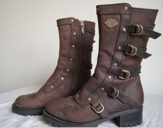 Harley davidson brown leather boots
