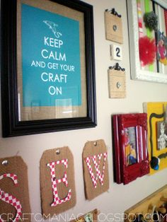 craft room organization - decor