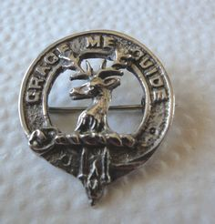 Clan Badge, SS Clan Forbes, Hallmarked Made in Scotland Brooch Grace Me Guide