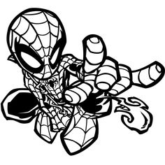 little Spider-Woman Superhero Printable coloring pages for kids boys and girls