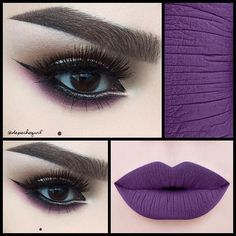Gorgeous purple-themed look!