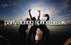 party during spring break