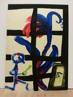 Stick Figures, Concept, Gouache, Painting, Art, Basic Drawing, Art Background, Painting Art, Kunst