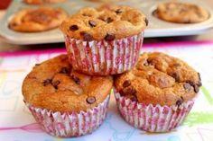 Muffin di banana, avena e goccie di cioccolato
