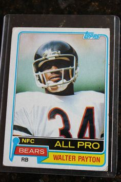 walter payton all pro 1981  400 topps card chicago bears  NFL  Football  card nfc from  3.99 d934be1e3