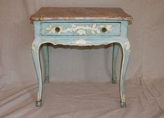 light blue painted furniture | Painted Side Table Painted Side Table in ... | Painting Furniture Ti ...