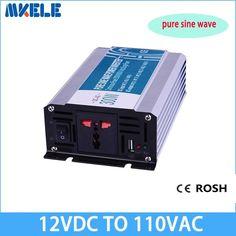 300 W 12 v dc a 110 v ac inversor de Onda sinusoidal pura convertidor de voltaje inversor solar fuera de la red eléctrica inversor de energía MKP300-121