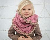 Crochet Pattern - Loopy/Hoody Cowl Scarf (Toddler/Child and Adult Sizes). $4.00, via Etsy.