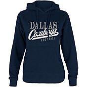 $40--2X--Dallas Cowboys Merchandising Women's Remi Glitter Navy Hoodie