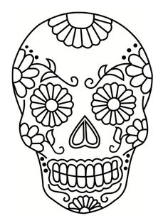Home Decorating Style 2020 for Coloriage Tete De Mort Mexicaine A Imprimer, you can see Coloriage Tete De Mort Mexicaine A Imprimer and more pictures for Home Interior Designing 2020 at Coloriage Kids. Skull Coloring Pages, Colouring Pages, Coloring Books, Mexican Skulls, Mexican Art, Sugar Skull Stencil, Sugar Skulls, Sugar Skull Painting, Sugar Skull Drawings
