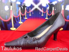 Womens shoes KELLY & KATIE High Heel Brown LEATHER dress pumps pointy toe 7.5 M