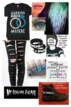 """""""My Digital Escape"""" by faygoman ❤ liked on Polyvore featuring Converse"""