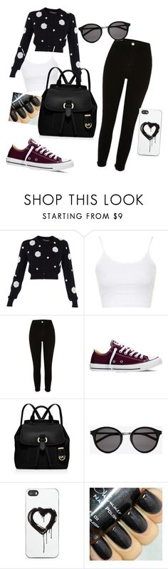 """""""black"""" by lucijaznidarec ❤ liked on Polyvore featuring Dolce&Gabbana, Topshop, River Island, Converse, MICHAEL Michael Kors, Yves Saint Laurent and Zero Gravity"""