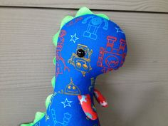Ian the Robot Dinosaur by SideshowFriends on Etsy, $18.00