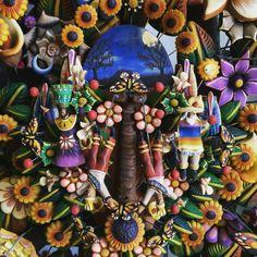▲ DANZANTES▲ #VioArtStudio #diseñomexicano #pottery #barrometepec #pintadoamano #miniaturas