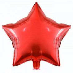 Red Star Balloon  Foil Star Balloon  45cms  Baby by pingosdoceu
